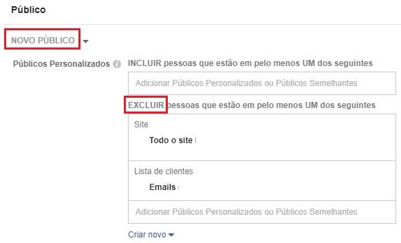 Segmentação do facebook ads para impactar novos usuários