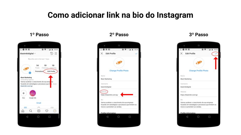 Tutorial - Como adicionar link na bio do Instagram