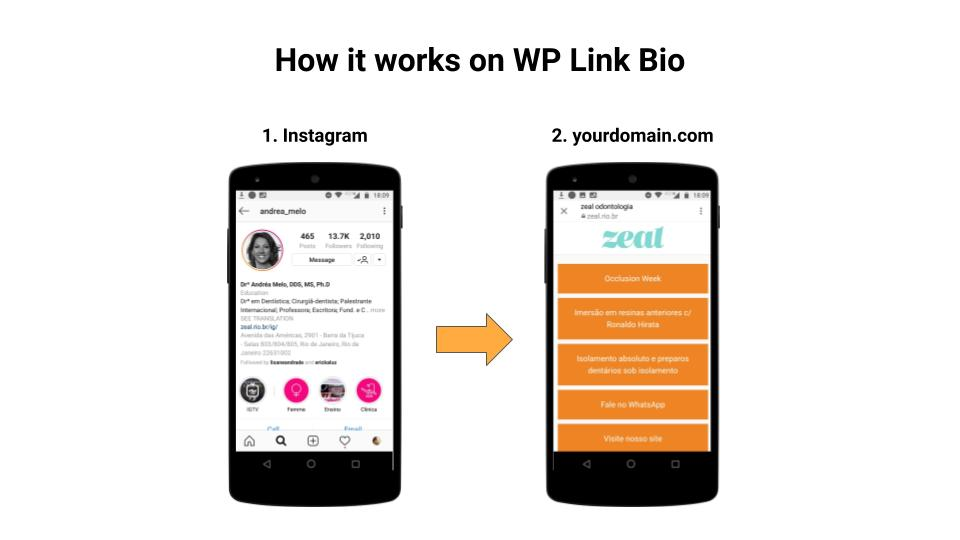 How it works on WP Link Bio